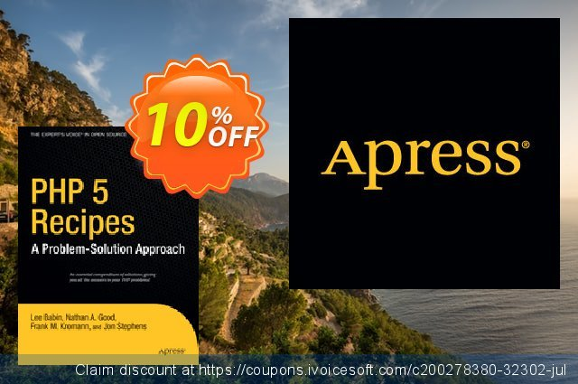 PHP 5 Recipes (Kromann) discount 10% OFF, 2021 New Year's Day discount