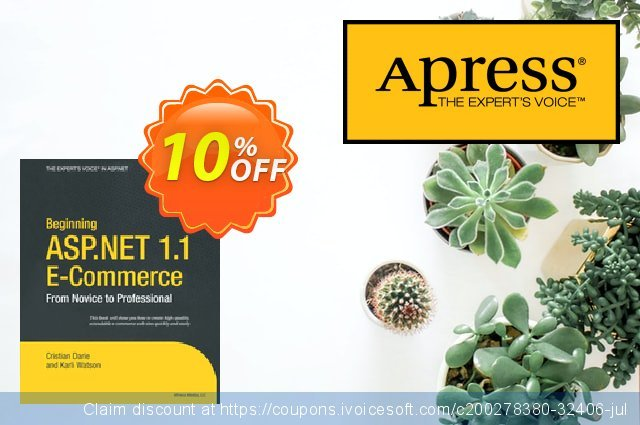 Beginning ASP.NET 1.1 E-Commerce (Watson) discount 10% OFF, 2021 New Year offering sales