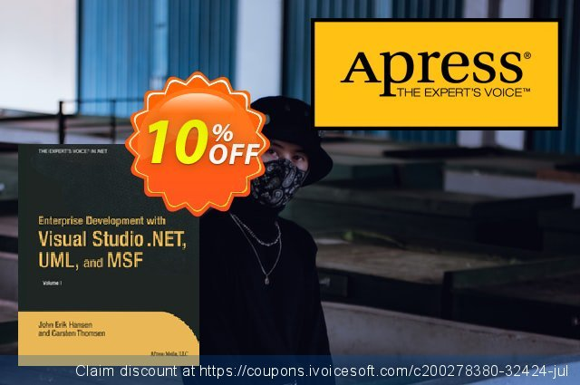 Enterprise Development with Visual Studio .NET, UML, and MSF (Hansen) discount 10% OFF, 2021 Happy New Year offering sales