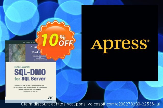 Real-World SQL-DMO for SQL Server (Mitchell) discount 10% OFF, 2021 Halloween promotions. Real-World SQL-DMO for SQL Server (Mitchell) Deal
