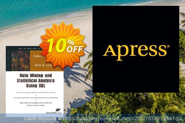 Data Mining and Statistical Analysis Using SQL (Lovett) discount 10% OFF, 2020 Back to School coupons promo
