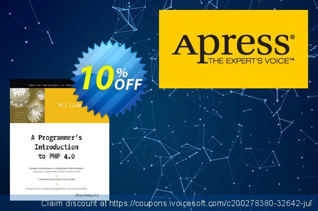 A Programmer's Introduction to PHP 4.0 (Gilmore) discount 10% OFF, 2020 Back to School season offering sales
