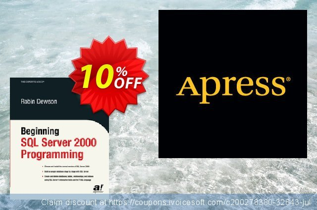 Beginning SQL Server 2000 Programming (Dewson) discount 10% OFF, 2020 Exclusive Student deals offering sales