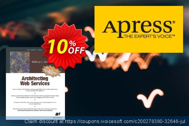 Architecting Web Services (Oellermann) discount 10% OFF, 2020 Exclusive Teacher discount offering sales