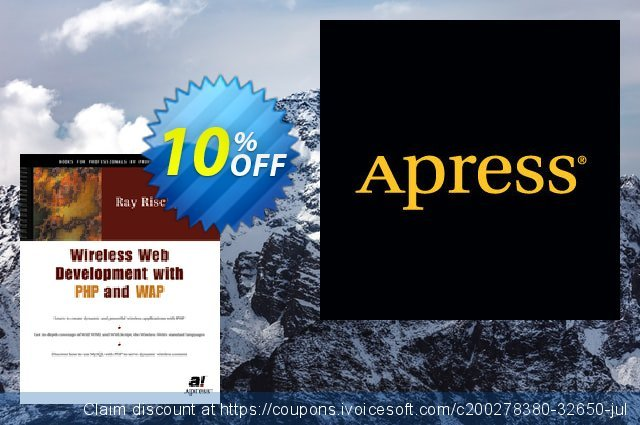 Wireless Web Development with PHP and WAP (Rischpater) discount 10% OFF, 2020 College Student deals discounts