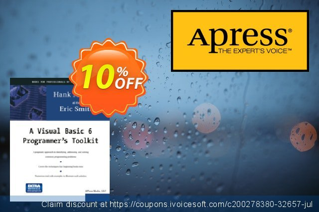 A Visual Basic 6 Programmer's Toolkit (Marquis) discount 10% OFF, 2020 Back to School event offering sales