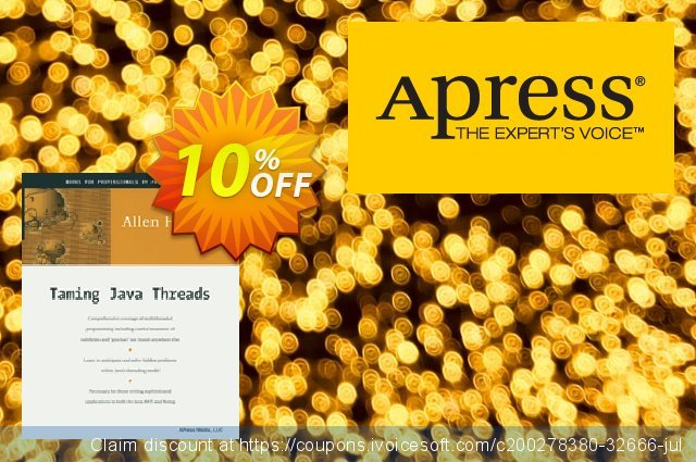 Taming Java Threads (Holub) discount 10% OFF, 2020 Exclusive Student discount offering sales