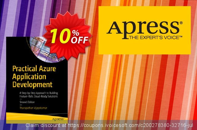 Practical Azure Application Development (Vijayakumar) discount 10% OFF, 2020 College Student deals promo sales