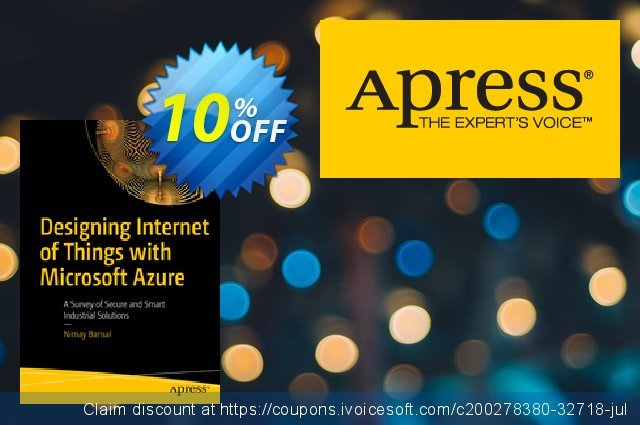 Designing Internet of Things with Microsoft Azure (Bansal) discount 10% OFF, 2020 Back to School promotion offering sales