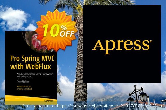 Pro Spring MVC with WebFlux (Deinum) discount 10% OFF, 2020 Back to School event offering sales