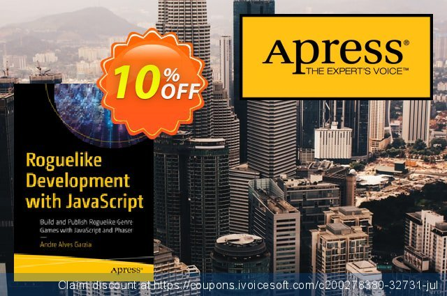 Roguelike Development with JavaScript (Garzia) discount 10% OFF, 2021 Mother's Day promotions. Roguelike Development with JavaScript (Garzia) Deal