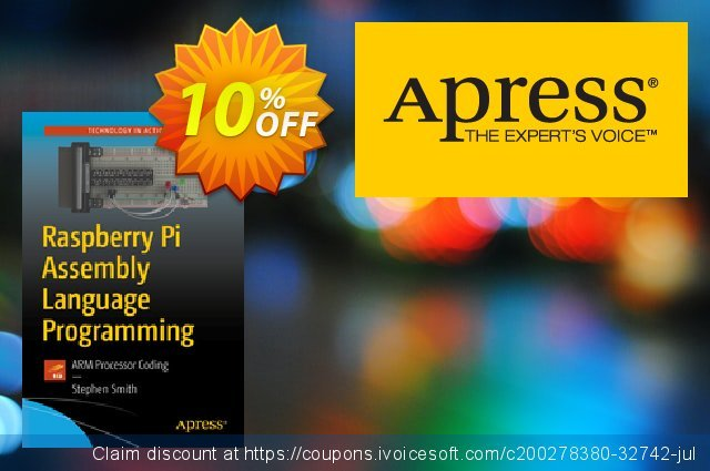 Raspberry Pi Assembly Language Programming (Smith) discount 10% OFF, 2020 Back-to-School promotions offering sales