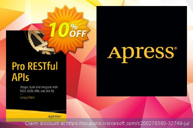 Pro RESTful APIs (Patni) discount 10% OFF, 2020 Student deals offer