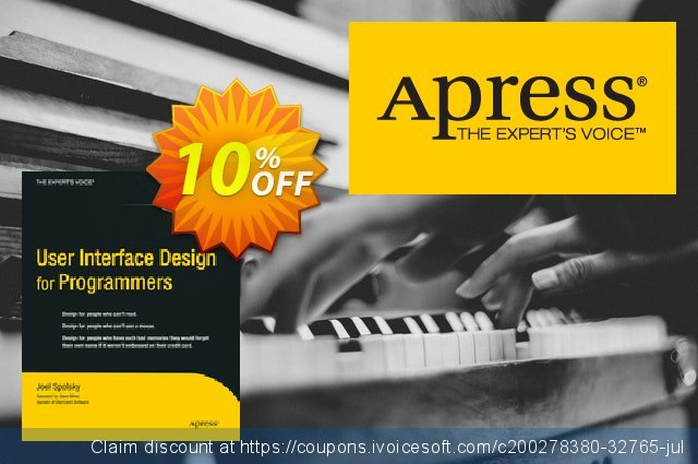 User Interface Design for Programmers (Spolsky) discount 10% OFF, 2020 Halloween sales