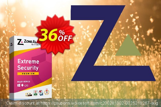 ZoneAlarm Extreme Security (25 Devices) 대단하다  할인  스크린 샷
