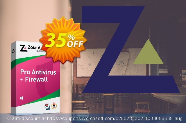 ZoneAlarm Pro Antivirus + Firewall (10 PCs License) discount 35% OFF, 2021 Happy New Year offering sales