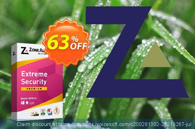 ZoneAlarm Extreme Security discount 63% OFF, 2021 Happy New Year offering sales