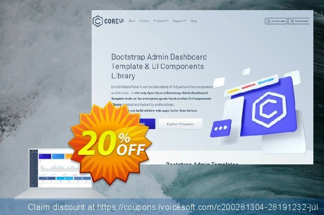 CoreUI PRO Bootstrap Admin Template discount 20% OFF, 2020 Thanksgiving Day sales