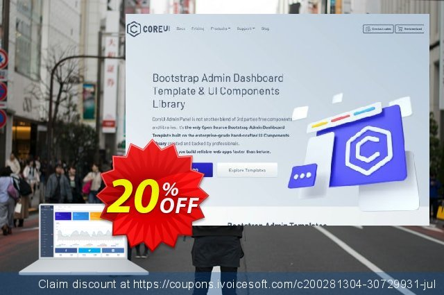 CoreUI PRO Vue.js Admin Template discount 20% OFF, 2020 Thanksgiving Day offering sales