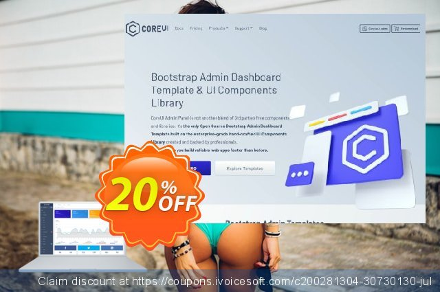 CoreUI PRO Vue.js + Laravel Admin Template discount 20% OFF, 2021 New Year's Day offering sales