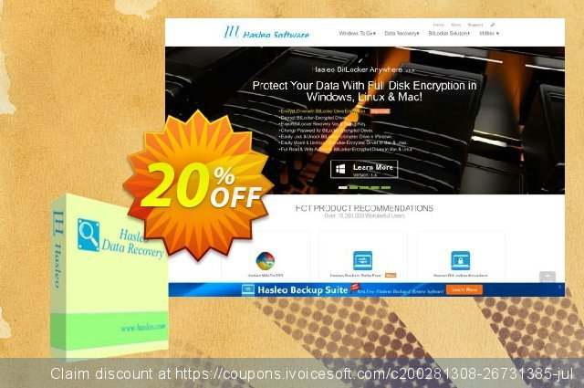 Hasleo Data Recovery Professional + Lifetime Free Upgrades discount 20% OFF, 2020 College Student deals promo