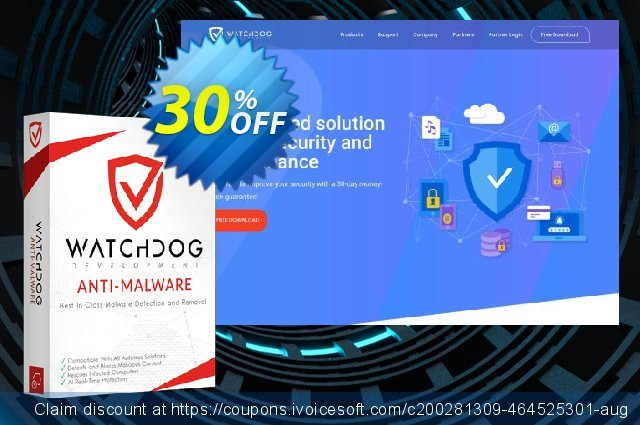 Watchdog Anti-Malware 2 year / 1 PC discount 30% OFF, 2021 Easter day offering sales