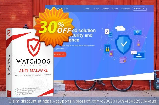Watchdog Anti-Malware 2 year / 3 PC discount 30% OFF, 2021 April Fools' Day offering sales
