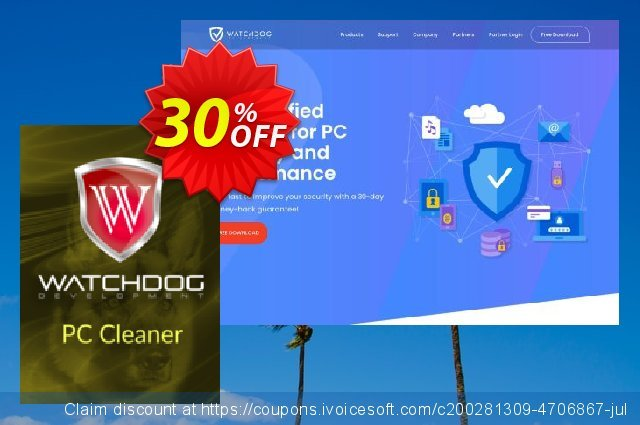 Watchdog PC Cleaner discount 20% OFF, 2020 College Student deals offer
