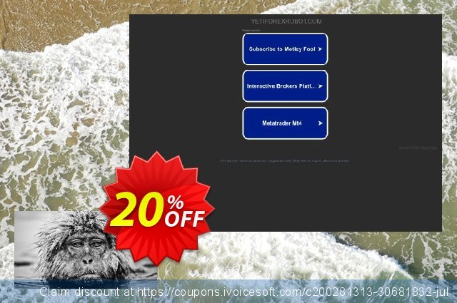 Yeti Forex Robot Full License discount 20% OFF, 2020 Thanksgiving Day offering sales