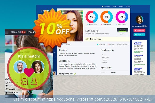 Chameleon modification services: 700 USD discount 10% OFF, 2020 End year offering deals