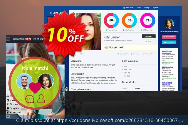 Chameleon modification services: 1750 USD discount 10% OFF, 2021 January deals