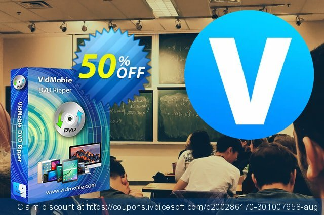 VidMobie DVD Ripper for Mac (Lifetime License) discount 50% OFF, 2021 Global Running Day discount. Coupon code VidMobie DVD Ripper for Mac (Lifetime License)