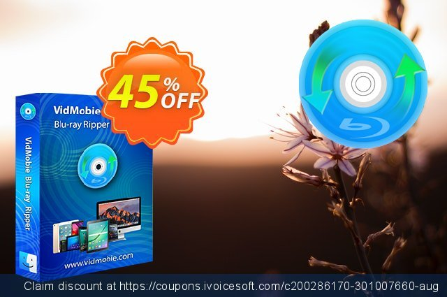 VidMobie Blu-ray Ripper for Mac (1 Year Subscription) discount 45% OFF, 2021 Egg Day offering sales. Coupon code VidMobie Blu-ray Ripper for Mac (1 Year Subscription)