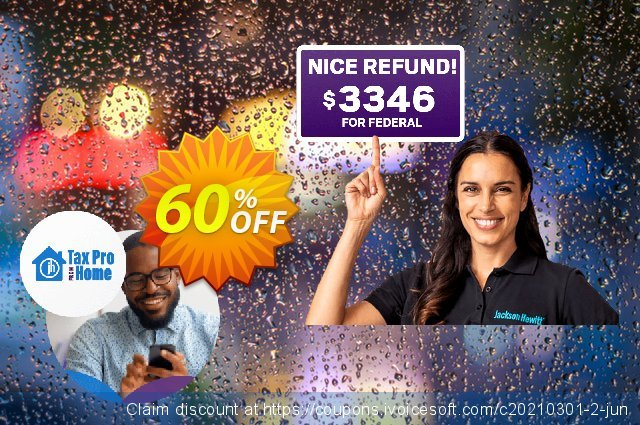 Jackson Hewitt File with a Tax Pro discount 60% OFF, 2021 April Fools' Day offering sales