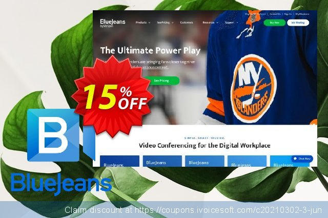 BlueJeans Meetings PRO discount 15% OFF, 2021 Spring offering deals