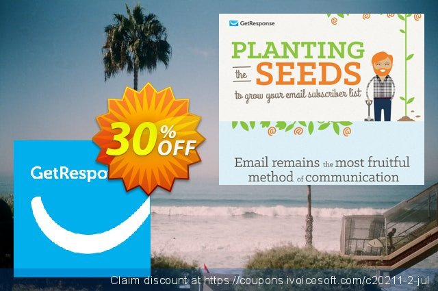 GetResponse BASIC discount 30% OFF, 2021 Women Day offering sales