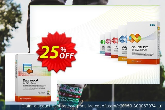 EMS Data Import for SQL Server (Business) + 1 Year Maintenance discount 20% OFF, 2020 Christmas Day offering sales