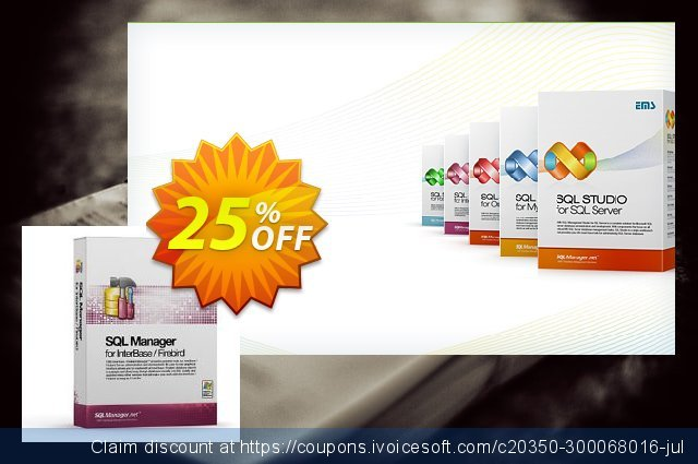 EMS SQL Manager for InterBase/Firebird (Business) + 1 Year Maintenance discount 20% OFF, 2020 Xmas promotions