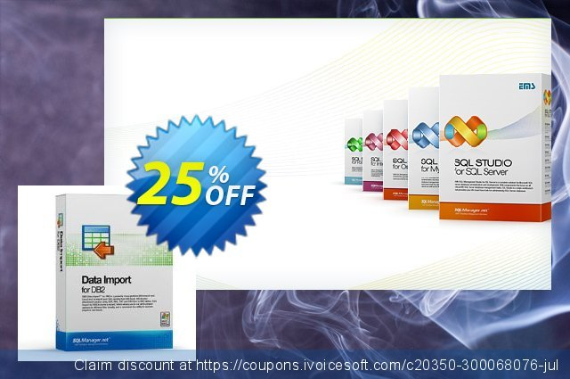 EMS Data Import for DB2 (Business) + 1 Year Maintenance discount 20% OFF, 2020 Year-End offer