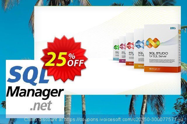 EMS SQL Management Studio for PostgreSQL (Business) + 2 Year Maintenance discount 20% OFF, 2021 All Hallows' evening offering sales. Coupon code EMS SQL Management Studio for PostgreSQL (Business) + 2 Year Maintenance