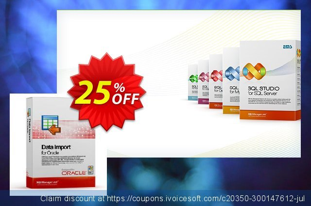 EMS Data Import for Oracle (Business) + 1 Year Maintenance discount 20% OFF, 2020 Exclusive Student deals sales