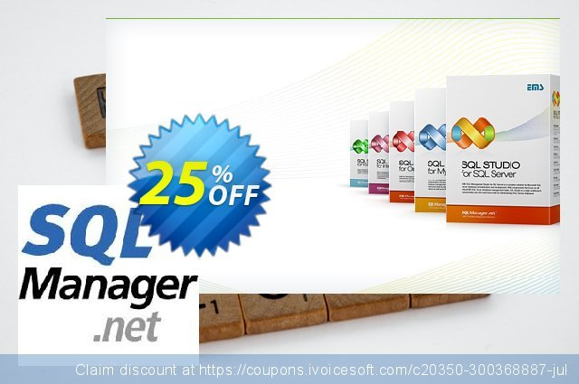 EMS SQL Backup for SQL Server (Business) + 3 Year Maintenance discount 20% OFF, 2021 Columbus Day discount. Coupon code EMS SQL Backup for SQL Server (Business) + 3 Year Maintenance