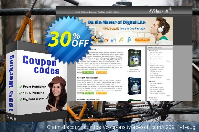 4Videosoft Video Converter Platinum discount 30% OFF, 2020 Back to School event offering discount