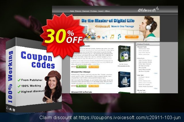4Videosoft MTS Converter discount 30% OFF, 2021 Happy New Year offering deals