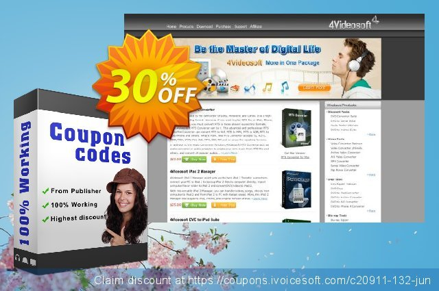 Get 30% OFF 4Videosoft WMV Video Converter for Mac discount