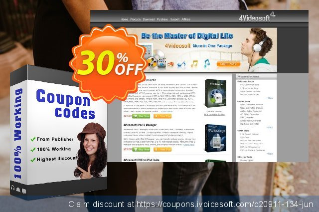 4Videosoft TS Converter for Mac discount 30% OFF, 2021 New Year's Weekend promotions