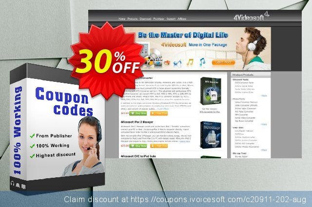 4Videosoft iPad Video Converter discount 30% OFF, 2021 January offering sales