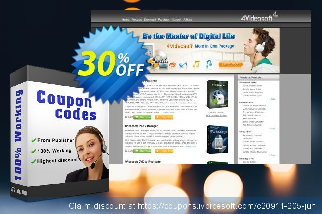 4Videosoft DVD to iPad Converter discount 30% OFF, 2021 Spring offering sales
