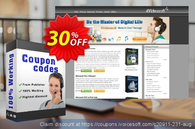 4Videosoft Blu-ray to MP3 Ripper discount 30% OFF, 2021 Happy New Year deals