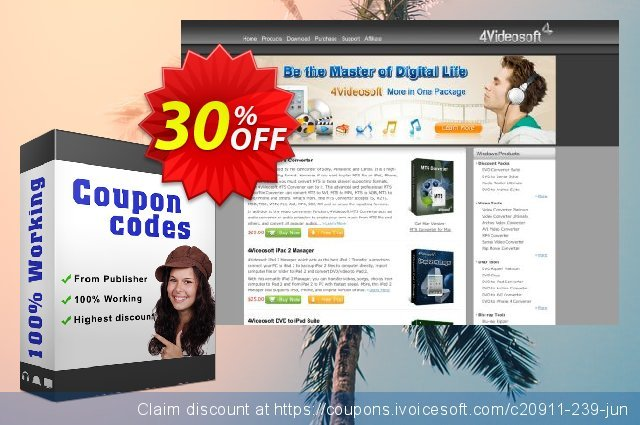 4Videosoft PDF to  Flash Converter discount 30% OFF, 2021 New Year's Weekend offering sales